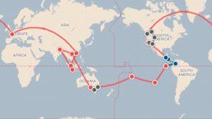 L,itinéraire de notre tour du monde en famille