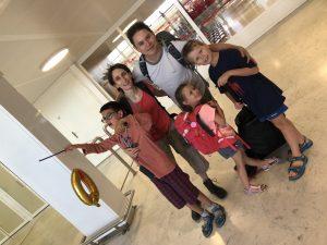 La famille Tran en départ pour le tour du monde